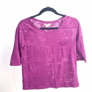 Urban Outfitters Tops - NEW BDG purple half sleeves sheet top