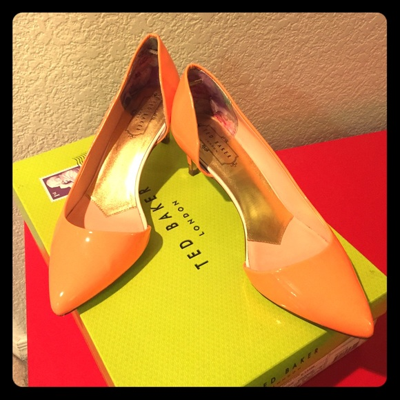 best cheap clearance prices new high Ted Baker orange kitten heels, price is confirmed!