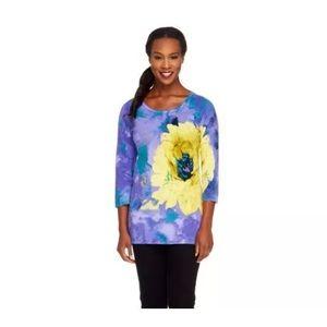 George Simonton Sweaters - Spring Summer floral sweater M L  George Simonton