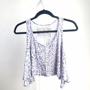 Like NEW Urban Outfitters crop leopard print tank