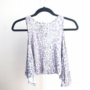Urban Outfitters Tops - Like NEW Urban Outfitters crop leopard print tank