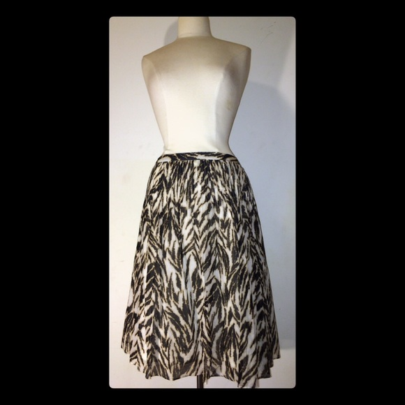 61% off Talbots Dresses & Skirts - Talbots Animal Print A- line ...