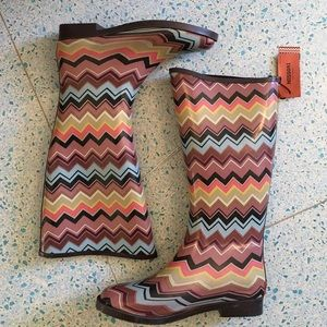 Missoni NEW for Target rain boots