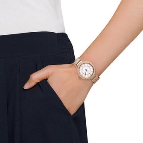 f836f119f102 Michael Kors MK Kerry Rose Gold-Tone Watch MK3313