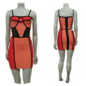 Nwt Herve Leger Keith dress coral scuba