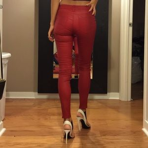 J Brand Pants - J brand red leather pants