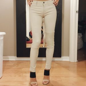 J Brand Pants - J brand cream leather pants
