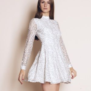 """Paper Nautilus"" Mini Flare Lace Dress"