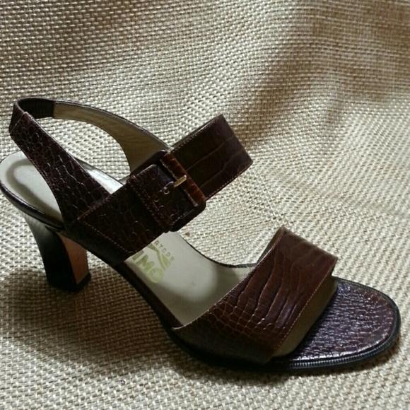 5f7a9194da28ba Salvatore Ferragamo Shoes - Salvatore Ferragamo Croc Embossed Sandals - SZ 7