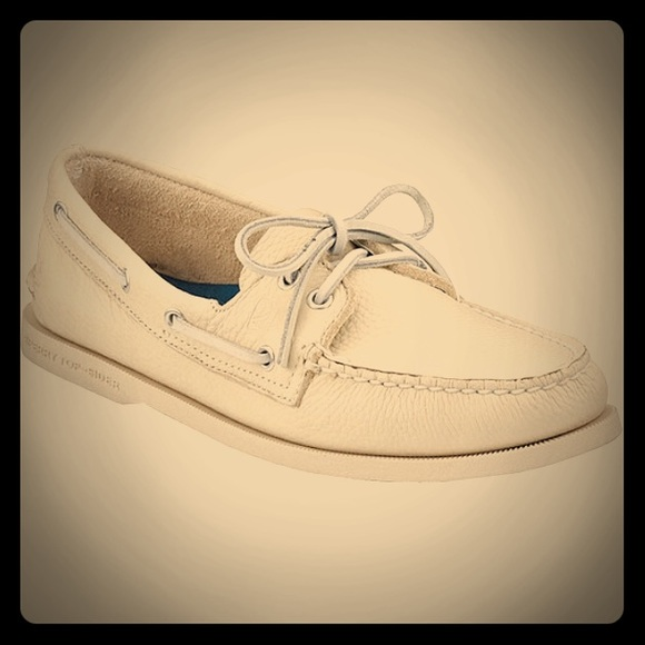 Sperry Shoes   Off White Sperrys   Poshmark