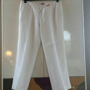 island company  Pants - Crisp white linen pant