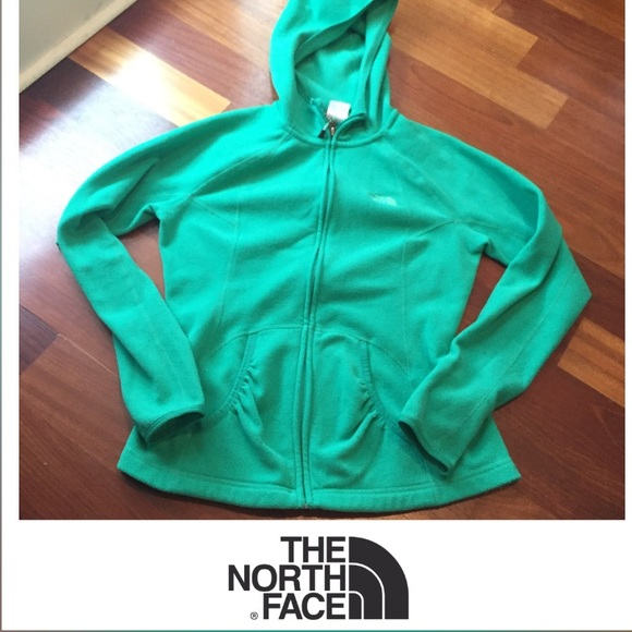 5d306978f5a8 North Face Green Fleece Zip Up Hoodie. M 56ded88d729a6635bd019700