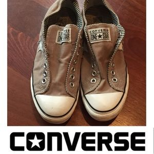 dd8b6faa6b4f Converse Shoes - Women s Converse One Star Laceless Slip on Shoes