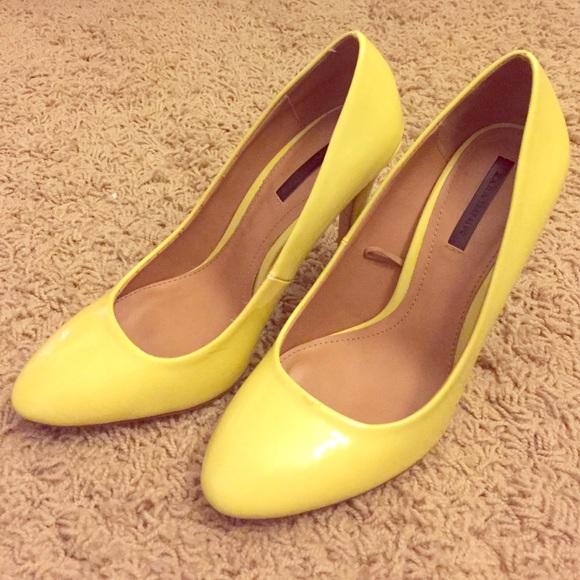 81% off Zara Shoes - Sale! ZARA pastel yellow leather heels ...