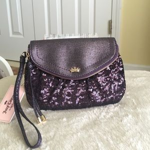 Authentic Juicy Couture Sequin Wrislet- Grape