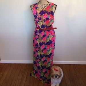 💐W118 by Walter baker floral maxi dress NWT