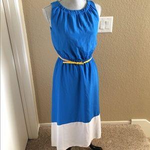 69 Off Loft Dresses Amp Skirts 🍂🍂nwot Dusty Blue Eyelet