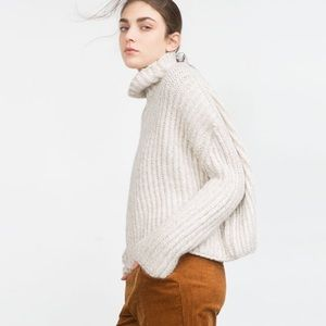 Zara Sweaters - Zara Knit High-Neck Sweater