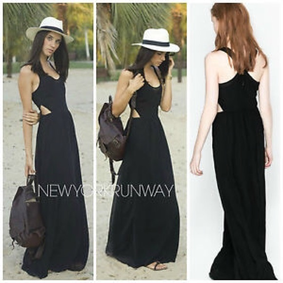 Zara Dresses Black Long Dress Poshmark