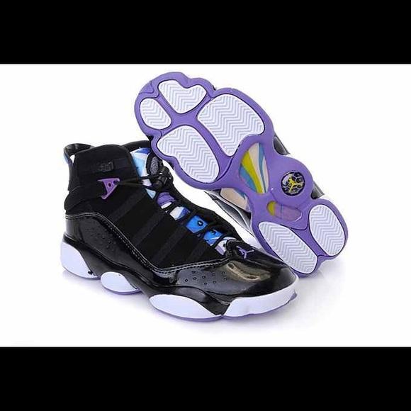 802b3bfd94f Jordan Shoes | Air 6 Rings Black Yellowvarsity Purple | Poshmark