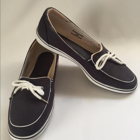 c9e3cac8e6d928 Grasshoppers Shoes - Grasshoppers Sz 8.5 Boat Shoes Navy Canvas