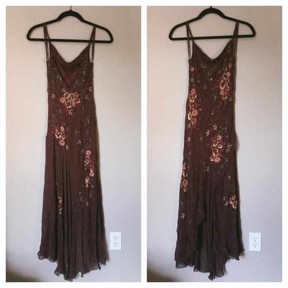 Lillie Rubin Dresses | Sale Beaded Gown Floral | Poshmark