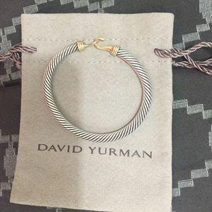 David Yurman Jewelry Cable Buckle Bracelet With Gold Poshmark
