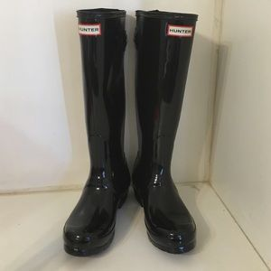 Hunter back adjust gloss boots