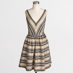 J. Crew metallic dress