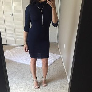 Dresses & Skirts - Closet Clear out💥 Ink navy blue high neck dress