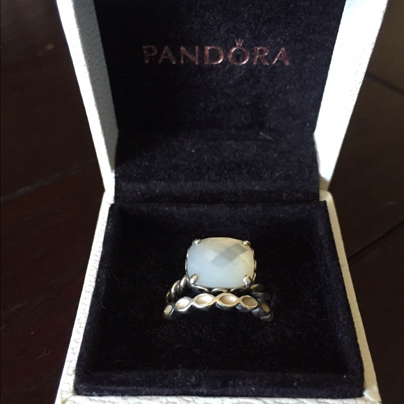 452e4848b ... mother of pearl pandora ring 8c627 7abb0 canada pandora 190859mop  womens ring 925 silver with white mother of pearl silver gold sizek  manufacturers uk ...