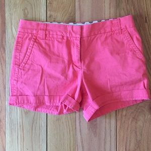 Coral J. Crew chino city fit short