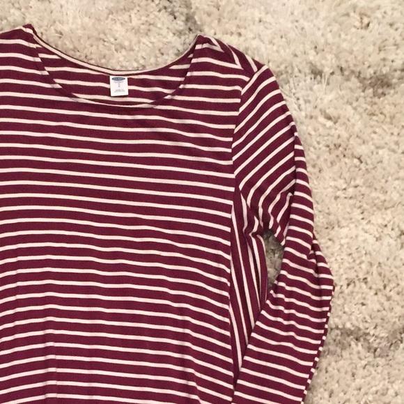 e4392a914fec Burgundy Striped Swing Dress. M 56df4c422599fe2aa600bac8