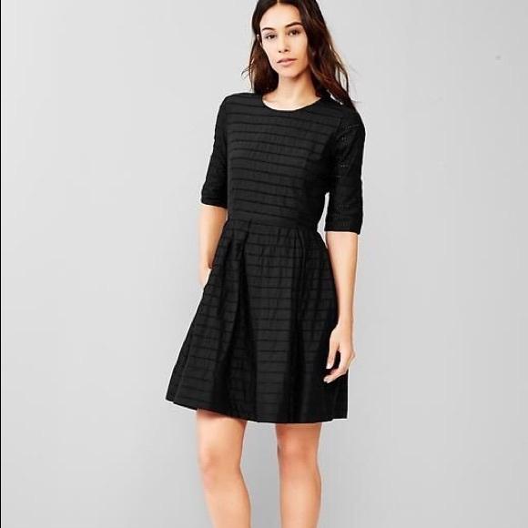 Gap Dresses Black Eyelet Fit And Flare Dress Poshmark