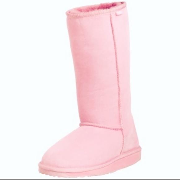 Tall Light Pink Emu Australia Boots