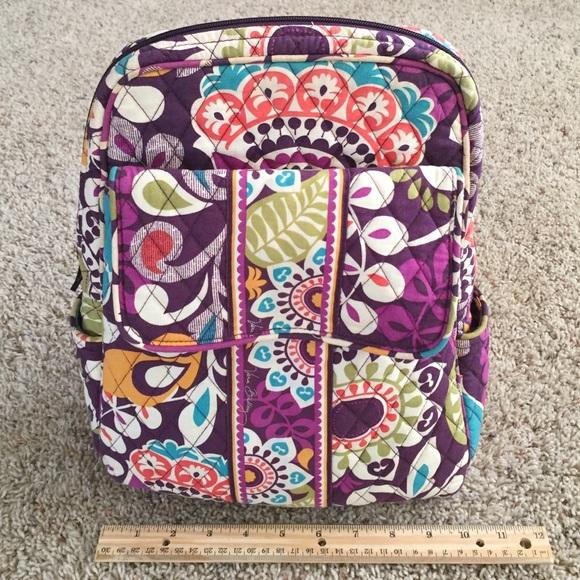 e5b47c1ca152 Vera Bradley Plum Crazy Small Backpack. M 56df5820f092826bb1025d1f