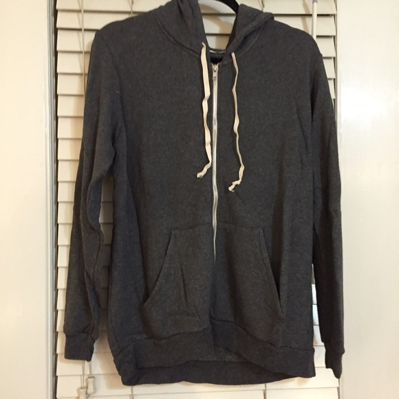 Brandy Melville Jackets & Coats - Brandy Melville grey thick zip up