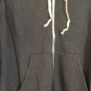 Brandy Melville Jackets & Coats - Brandy Melville grey thick zip up