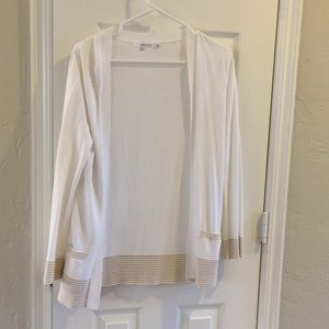 360 Sweater Tops - 360 sweater white and gold cardigan