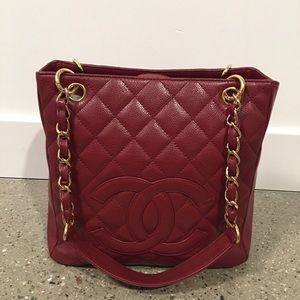 Authentic Chanel - petite caviar timeless tote