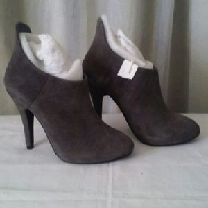 Shoes - Gatsby Gray Suede Booties- Size 7- new
