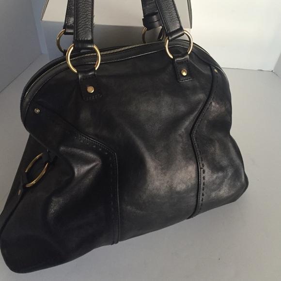 74% off Yves Saint Laurent Handbags - YSL Oversized Black Muse Bag ...