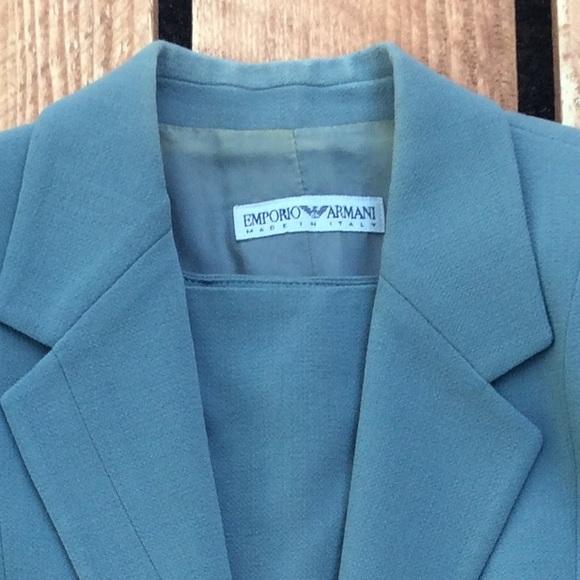 Grayish Blue emporio armani - vintage emporio armani grayish blue suit set