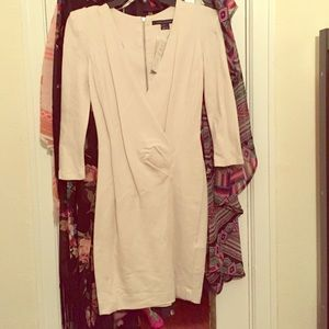 NWT French Connection cream fitted dress size 4