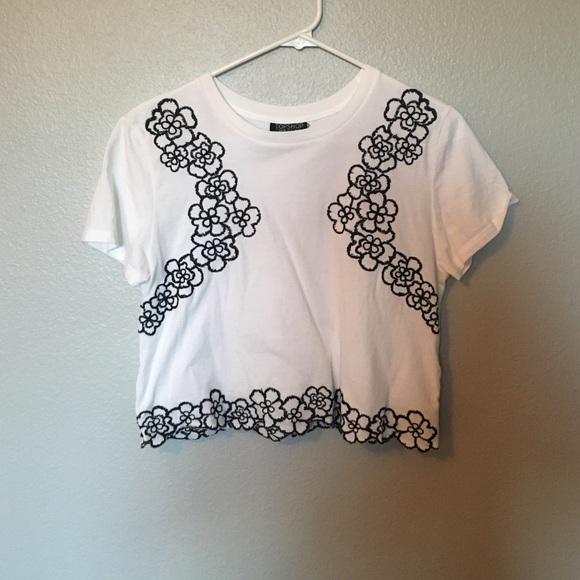 Topshop tops black white flower top poshmark black white flower top mightylinksfo