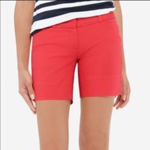 Limited Fire Red Long Shorts