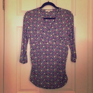 Boden top with shirred sides