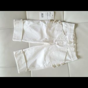 Other - White cotton capri pants. Made in Italy. 18/24 mo