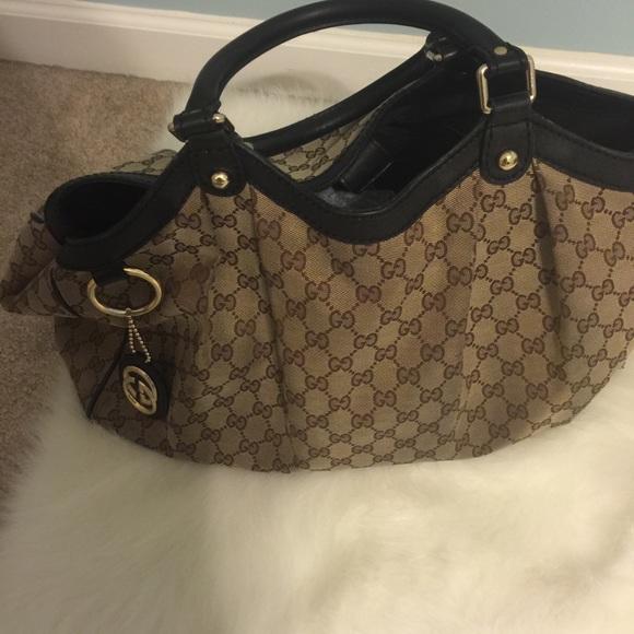 03eb17cdc6a Gucci Handbags - Authentic Gucci canvas Sukey