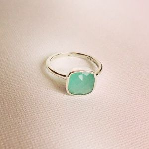 Cushion Cut Chalcedony & Sterling Silver Ring